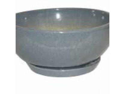 Keramický obal na květináč  Dekor 85  průměr 35 cm MRŠ-mramor šedý