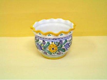 Keramický obal na květiny, habánský
