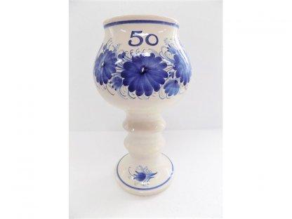 """Keramický pohár """"50"""" - s jakýmkoli číslem, nápisem - v.25 cm"""