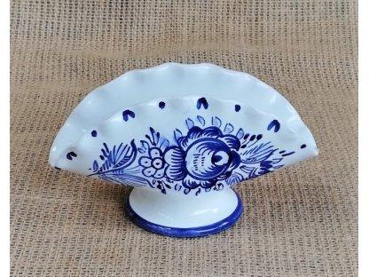 Keramický stojánek na ubrousky - modrobílý