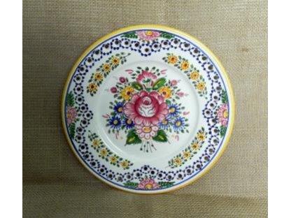 Keramický talíř dírkovaný, slovácký
