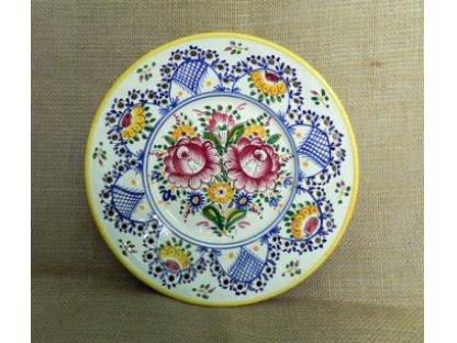 Keramický talíř dírkový, slovácký