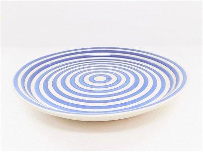 Keramický talíř mělký - kruhy, průměr 25,5 cm