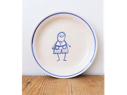 Keramický talíř pro malé kluky