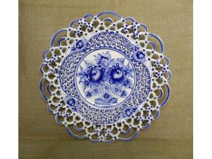 Keramický talíř řezaný - tři krajky