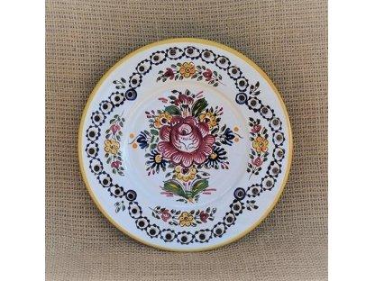 Keramický talíř slovácký - dírkový