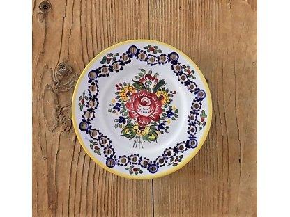 Keramický talířek dírkový malý, slovácký