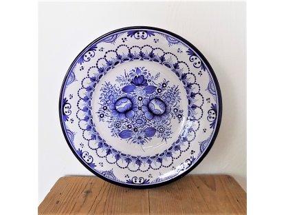 Keramický talířek modrý - velký