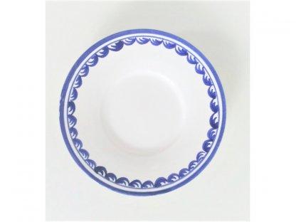 Keramický talířek, podšálek modrobílý