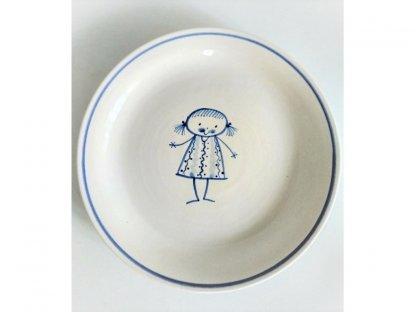 Keramický talířek pro malé holky - culíkatá