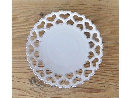 Keramický talířek ručně vyřezávaný - rustik