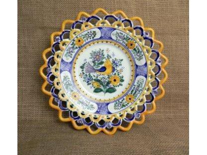 Keramický talířek s ptáčkem
