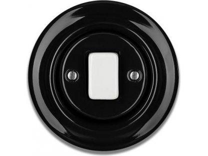 Keramický vypínač černobílý STIGMA jednoklapka  - FAT - 55