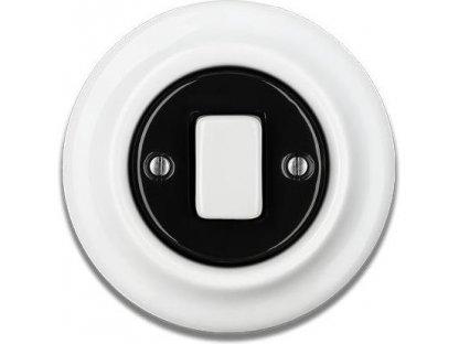 Keramický vypínač černobílý STIGMA jednoklapka - FAT - 65