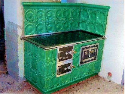 Kuchyňská kachlová kamna Bohouš zelená