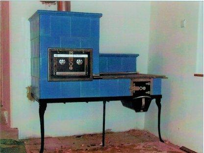 Kuchyňská kachlová kamna Jenda, modrá