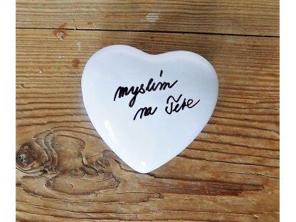 Magnetická bublina - keramika - srdce