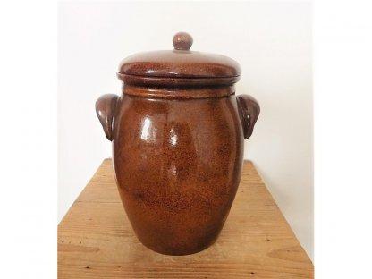 Nádoba na ukládání zelí Zelák buclák, keramika, s uchy 4,5 litrů