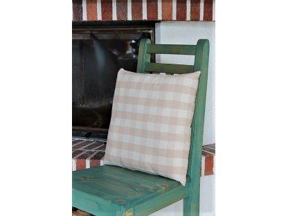 Ozdobný polštářek z kanafasu, Běla kostka, 40x40 cm