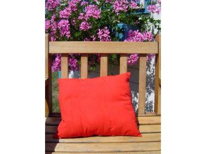 Ozdobný polštářek z kanafasu, Červený, 40x40 cm