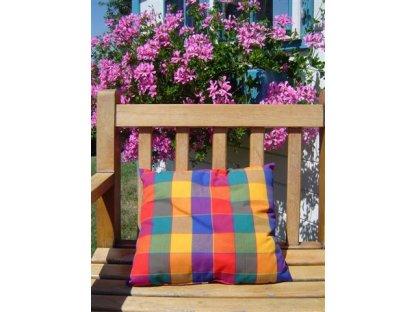 Ozdobný polštářek z kanafasu, Tomáš 5, barevné kostky, 40x40 cm