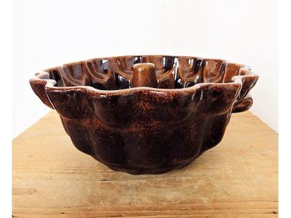 Pečící forma bábovka hnědá průměr 23 cm, objem 1 litr, 230/105, keramika