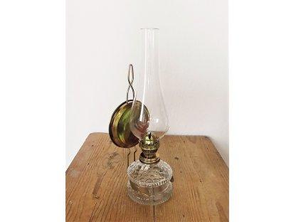 Petrolejka patentní se skleněným cylindrem, v. 30 cm (5)