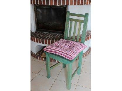 Podsedák na židli Josefína K1 - kanafas, kostka