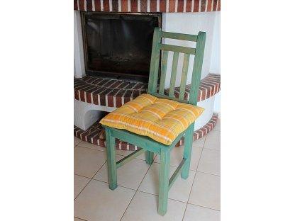 Podsedák na židli Laura žlutá - kanafas, kostka