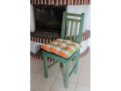Podsedák na židli Léto - kanafas, kostka