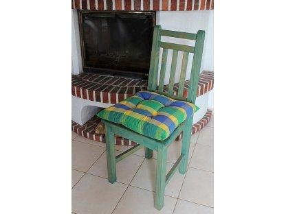 Podsedák na židli Mirka - kanafas, kostka