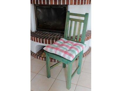 Podsedák na židli Nikola - kanafas, kostka