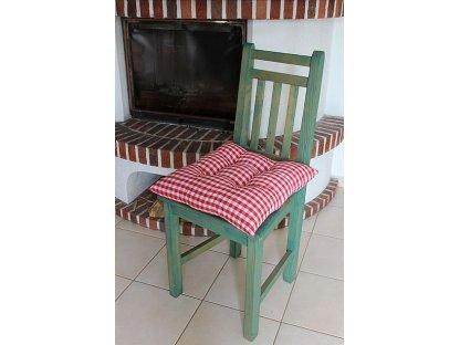 Podsedák na židli Petr červená K1 - kanafas, kostka