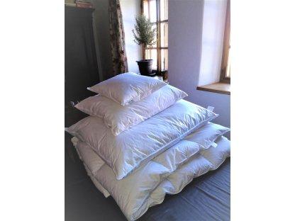 Polštář 50x60cm, 90% prachového peří - bílý