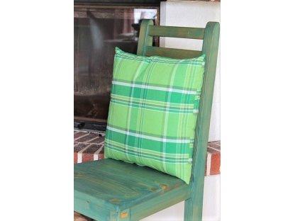 Polštářek z kanafasu, Zorina-zelená , 40x40 cm
