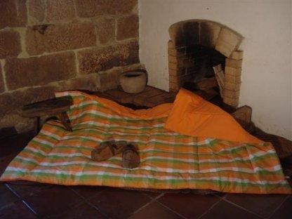 Přehoz na postel léto+oranž prodloužený, 140x220 cm, bavlna, kanafas