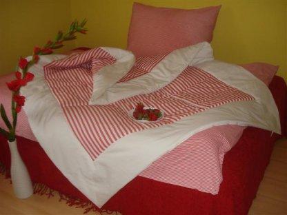 Přehoz na postel Míša 1+bílá, 140x200 cm, bavlna, kanafas