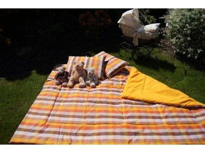 Přehoz na postel Tereza+zlatá, 140x220 cm, bavlna, kanafas
