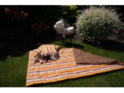 Přehoz na postel Terezka prodloužený rozměr, 140x220 cm, bavlna, kanafas