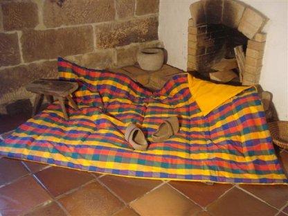 Přehoz na postel Tomáš 5+zlatá, 140x200 cm, bavlna, kanafas