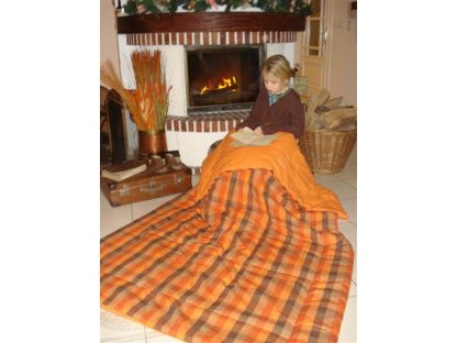Přehoz na postel Zbyněk, 140x200 cm, bavlna, kanafas