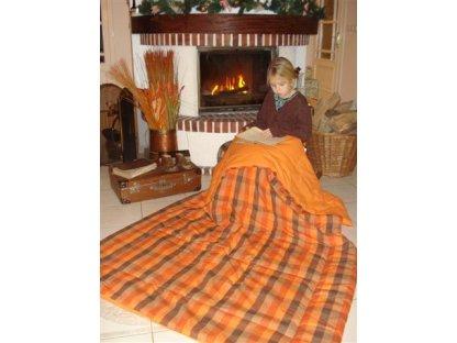 Přehoz na postel Zbyněk prodloužený, 140x220 cm, nadstandard, bavlna, kanafas