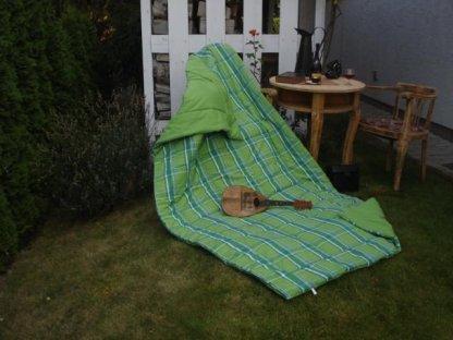Přehoz na postel Zorina+světle zelená, 140x200 cm, bavlna, kanafas