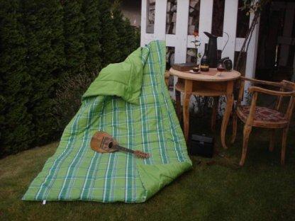 Přehoz na postel Zorina+světle zelená prodloužený, 140x220 cm, bavlna, kanafas