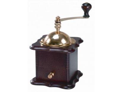Ruční mlýnek na kávu dřevěný, 1920 tmavý