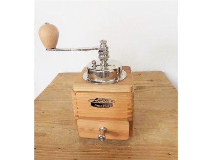 Ruční mlýnek na kávu dřevěný, 1945 Luxury třešeň, 20x10x10 cm