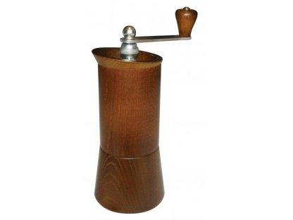 Ruční mlýnek na kávu dřevěný, LUX 2012 hnědý, v. 23,5 cm