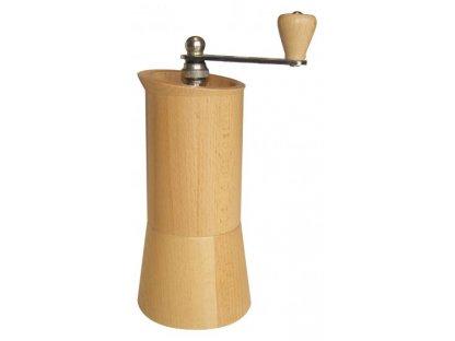 Ruční mlýnek na kávu dřevěný, LUX 2012 přírodní, v. 23,5 cm