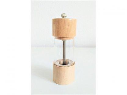 Ruční mlýnek na koření ROMA, světlé dřevo