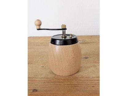 Ruční mlýnek na koření Soudek, světlý, výška 9 cm